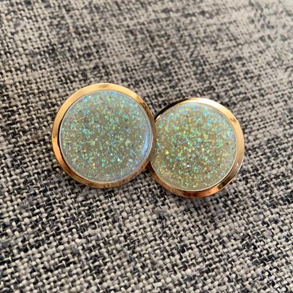 Vintage Glitter Earrings
